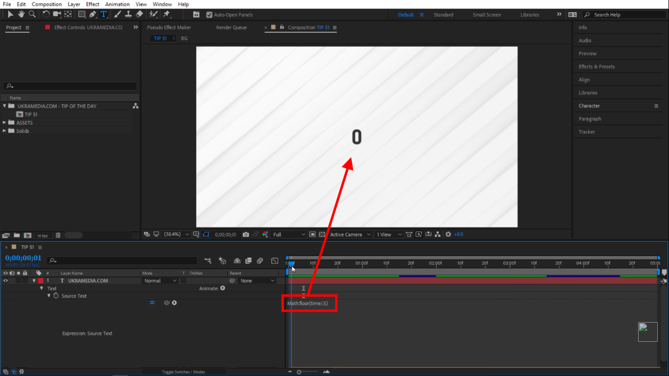 Math Floor rounding in After Effects