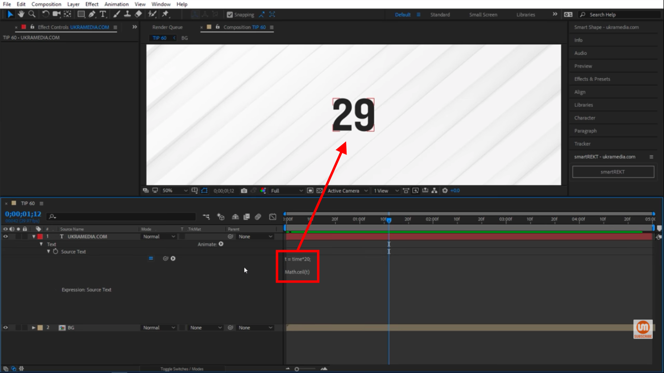 Math ceiling method in After Effects