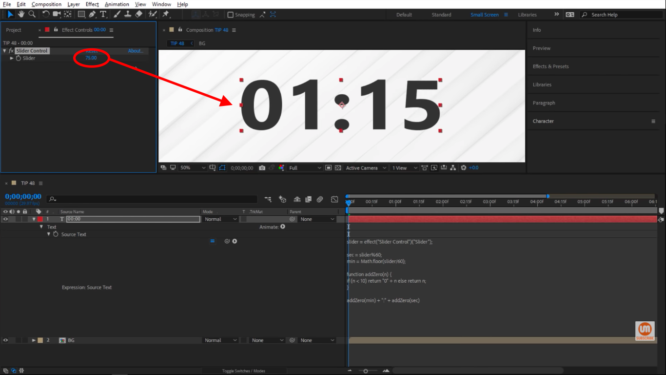 Minutes and Seconds working together in After Effects