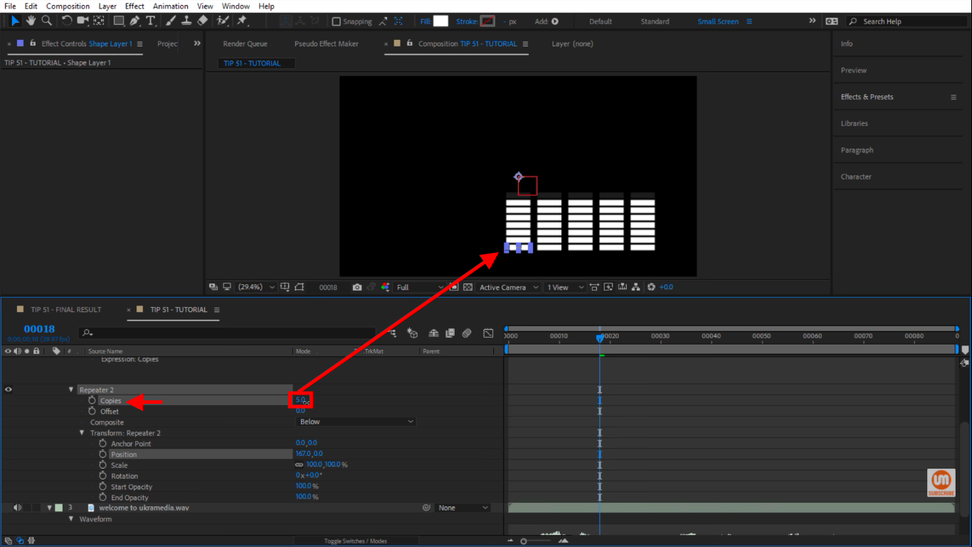 More Copies in After Effects Repeater
