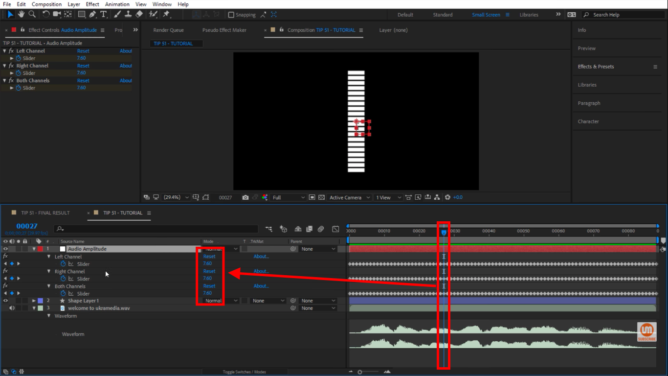 Moving time indicator in timeline in After Effects