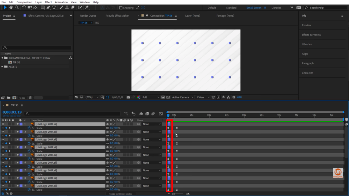 Offset based on the length of layers in After Effects