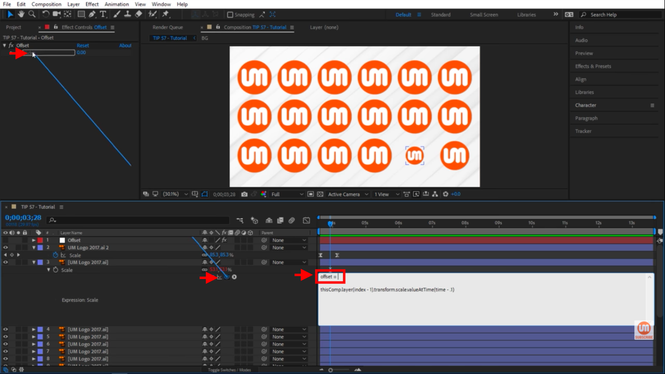 Offset variable in After Effects