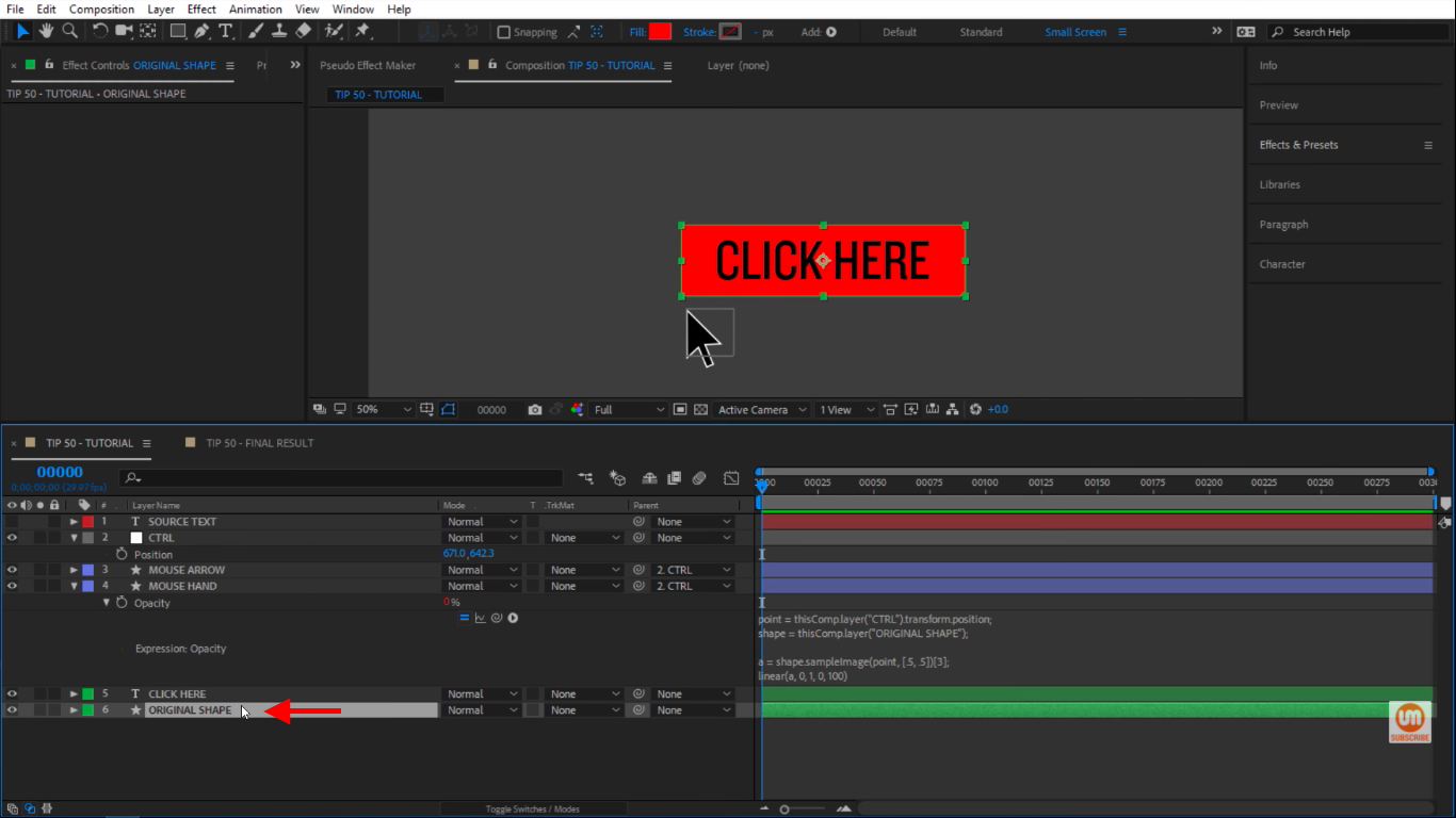 Original Shape in After Effects