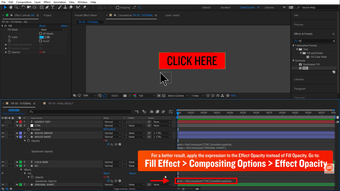 Paste after effects expressions