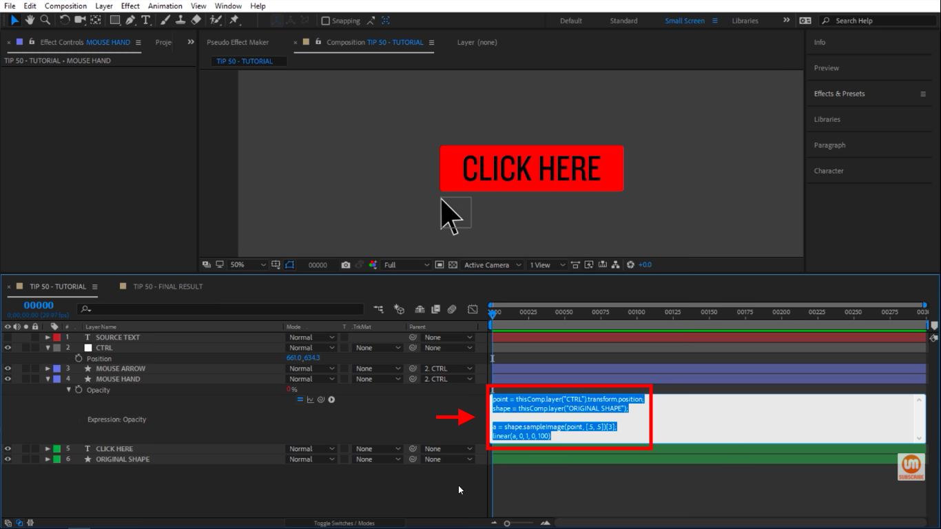 Paste expression in After Effects