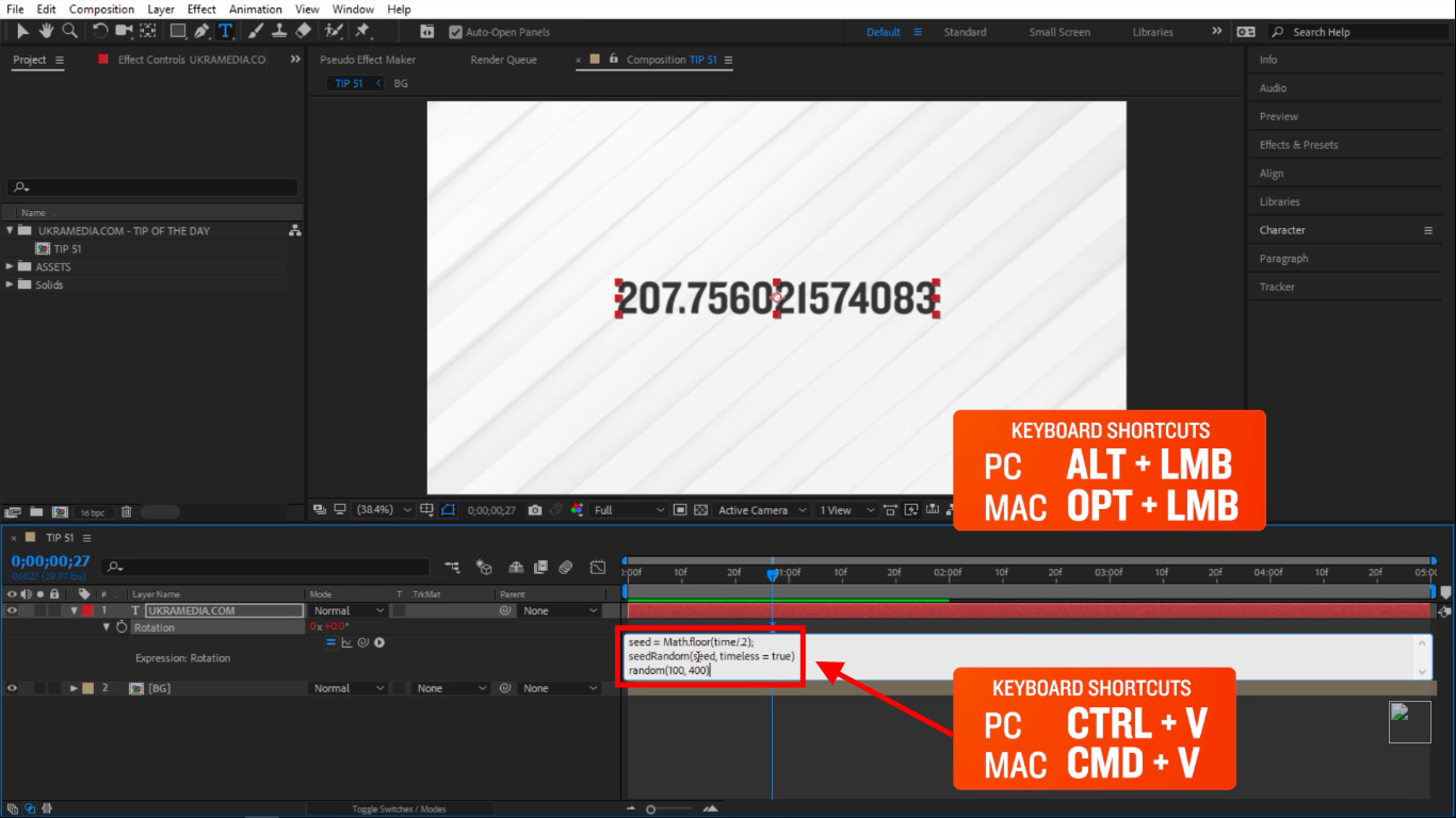 Paste in After Effects