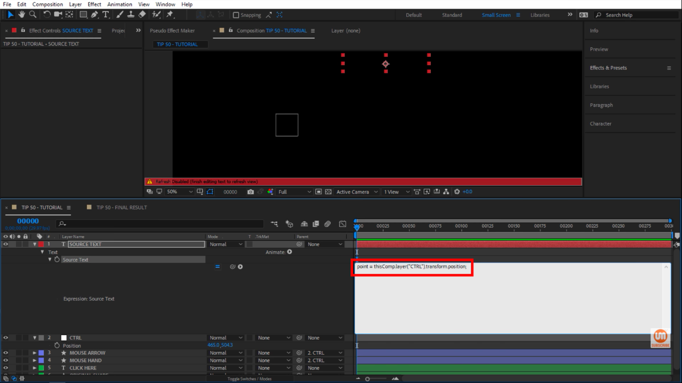 Position CTRL After Effects