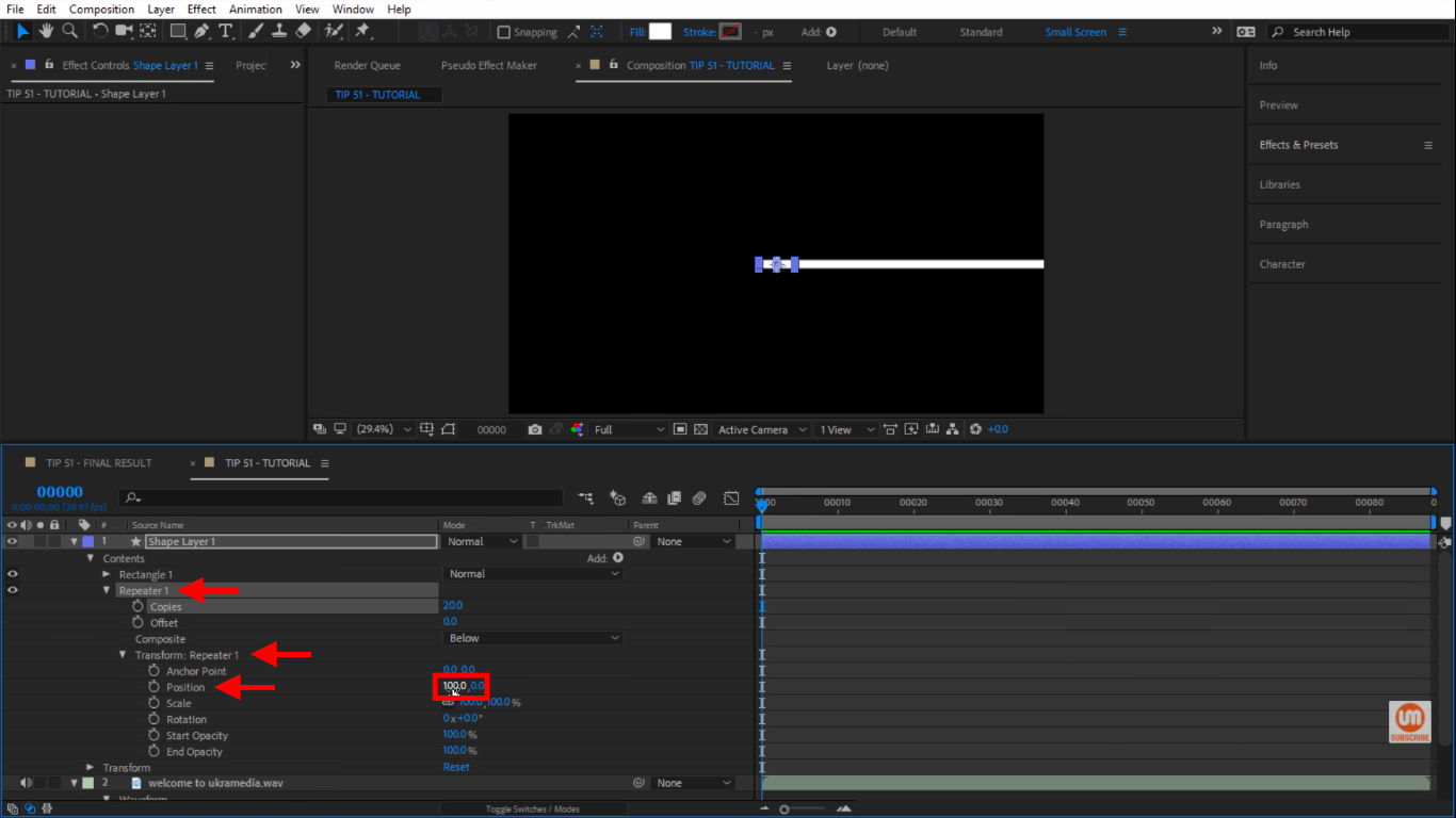 Position Repeater in After Effects