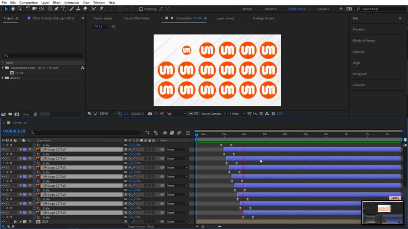 Preview offset layers in After Effects 5