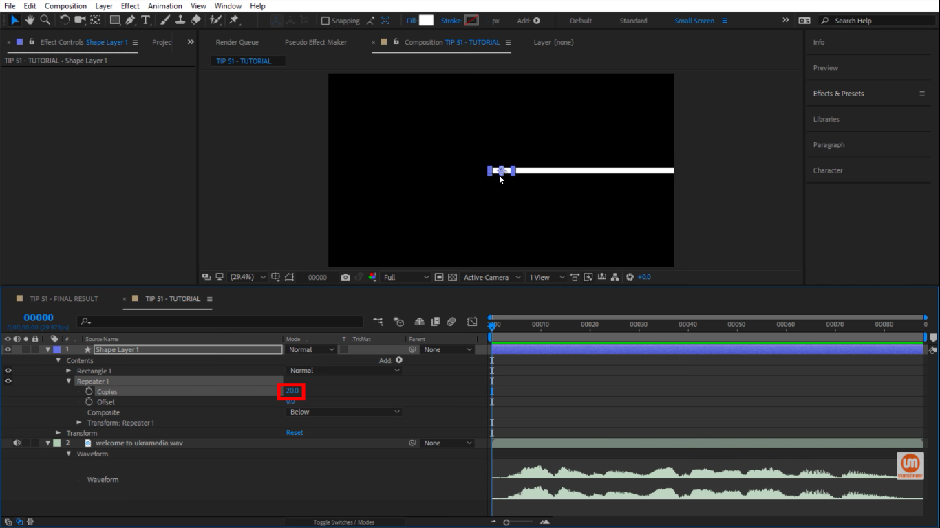 Repeater copy in After Effects