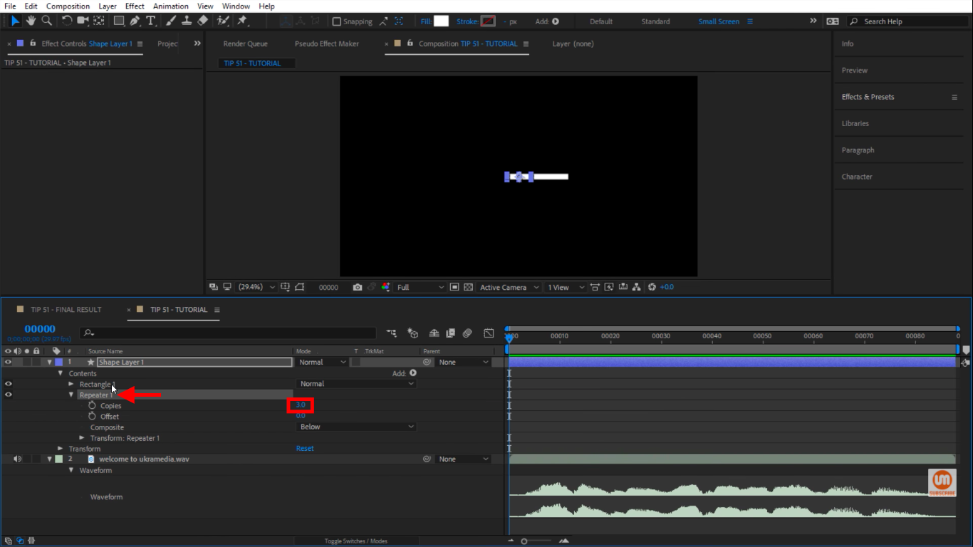 Repeater in After Effects