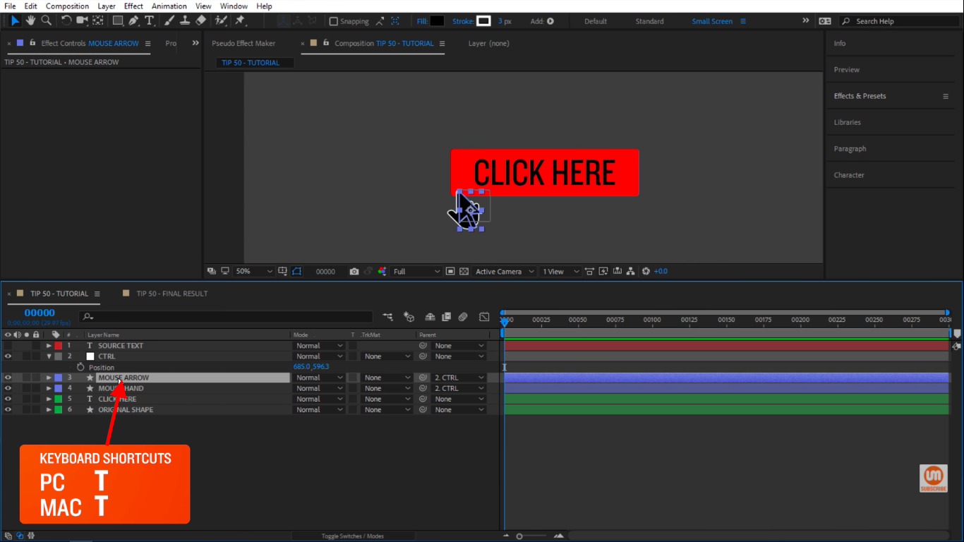 Reveal Opacity in After Effects