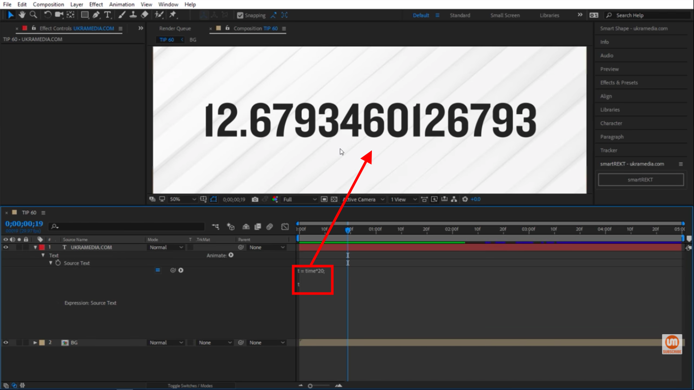 Rounded numbers in After Effects