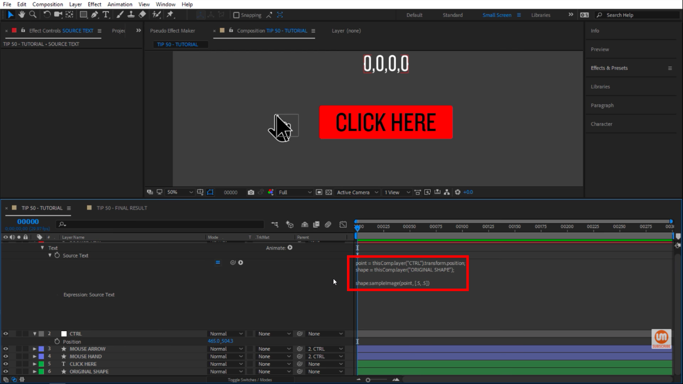 Sample and Range after effects