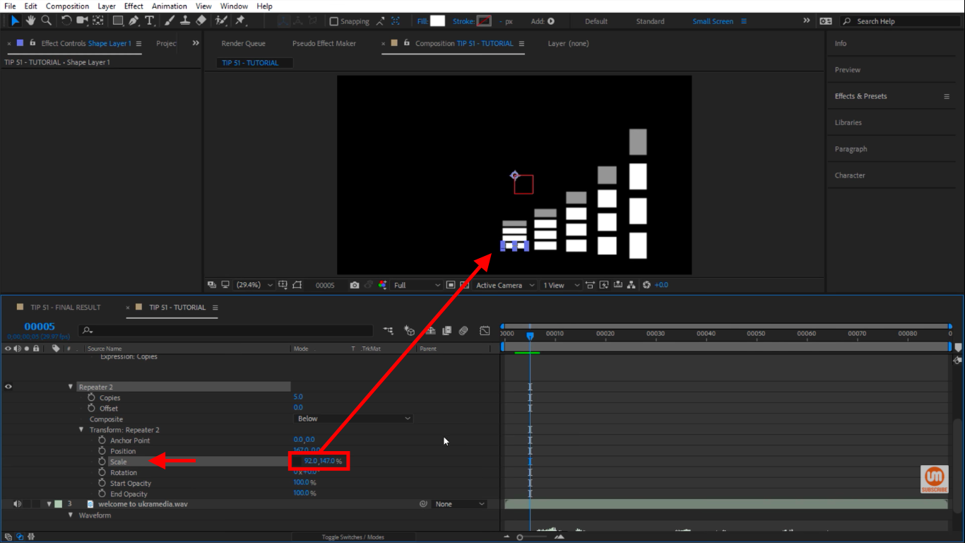 Scale Repeater in After Effects