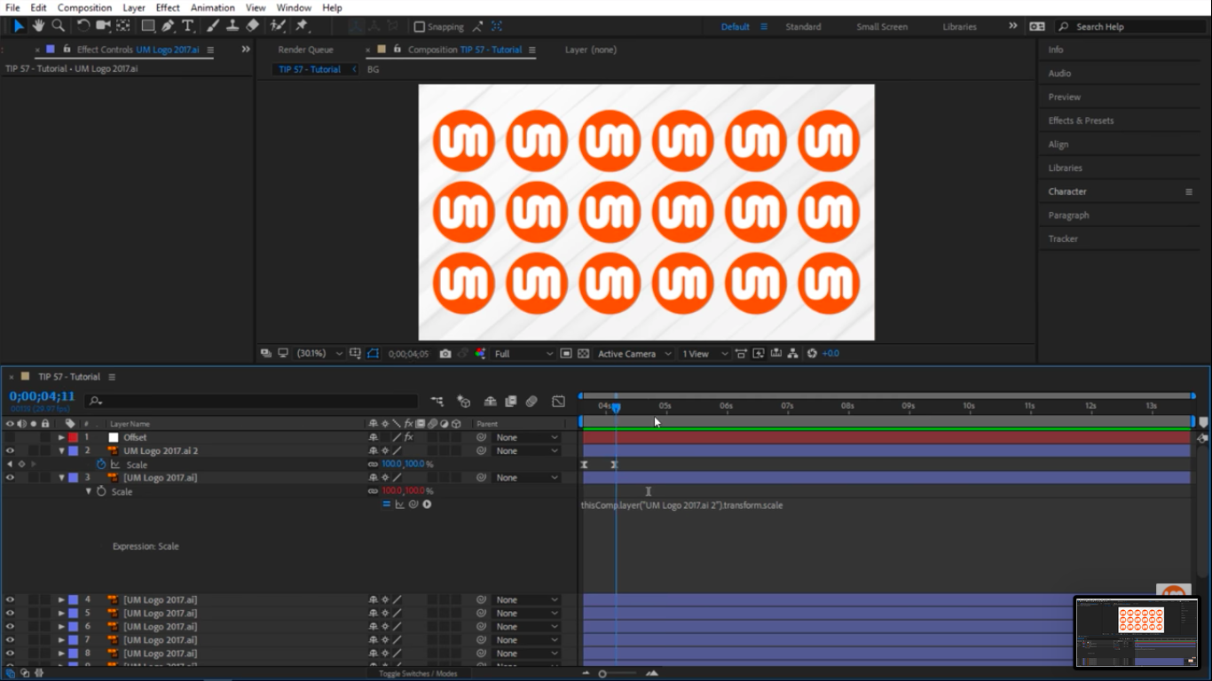 Scale animation in After Effects