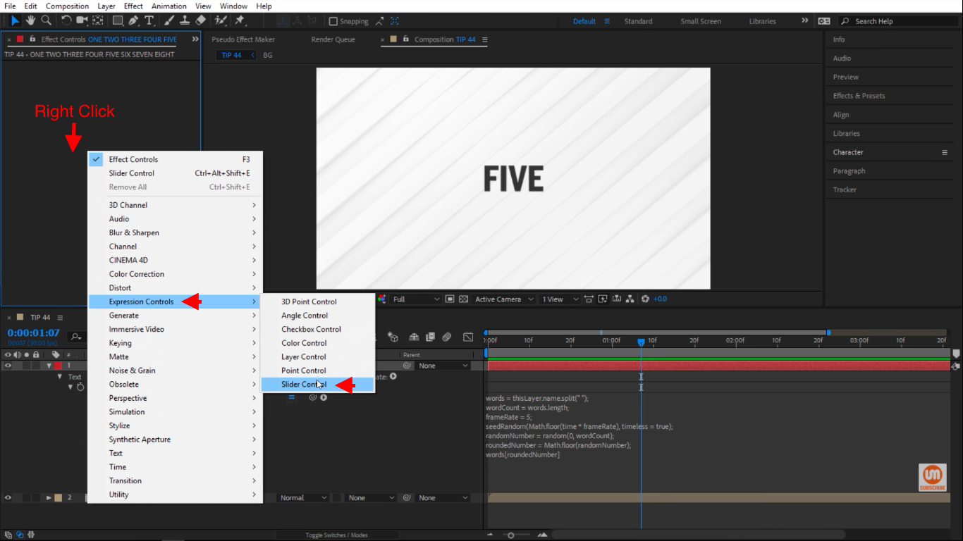 Slider Control in After Effects