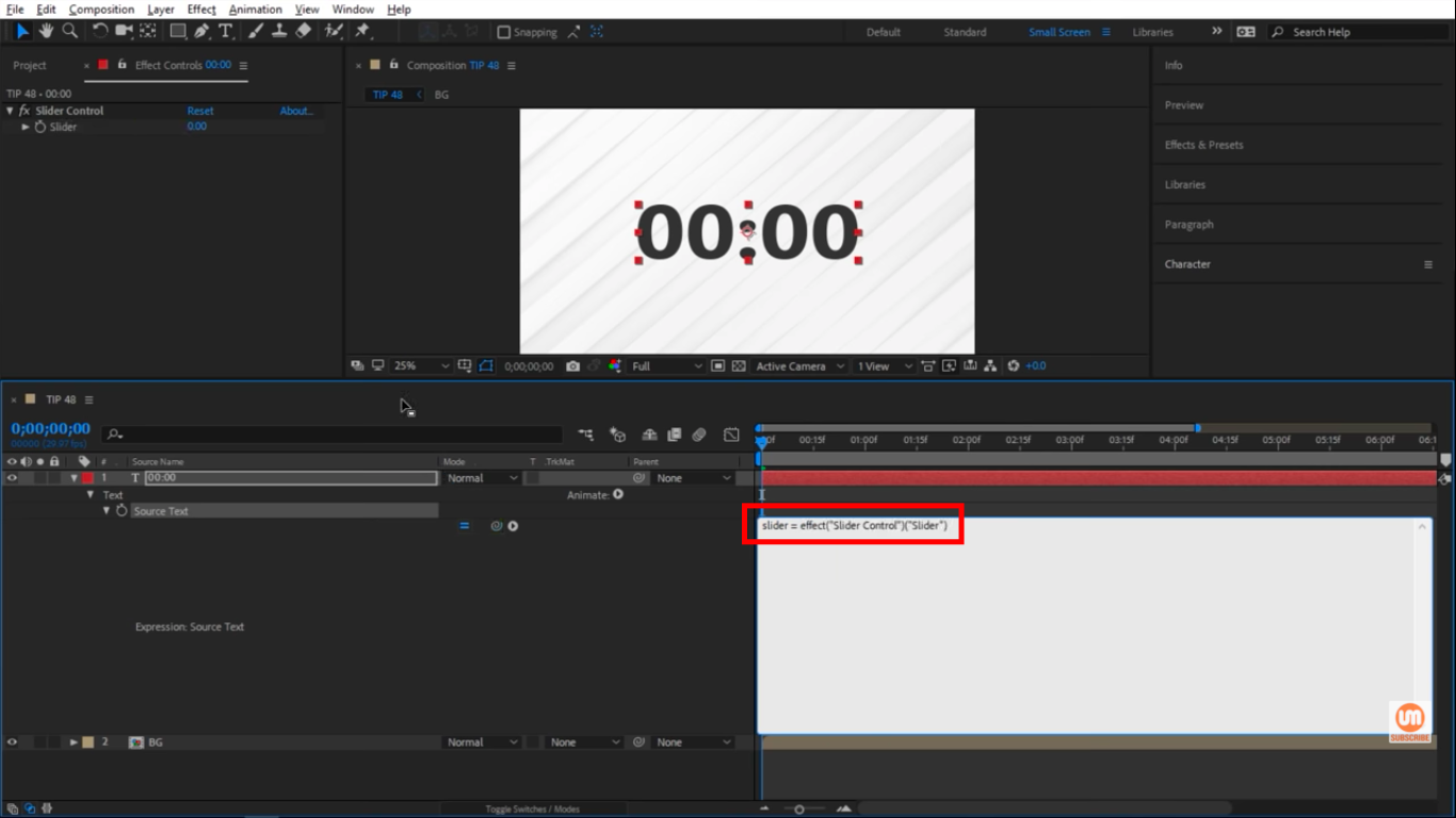 Slider expressions in After Effects