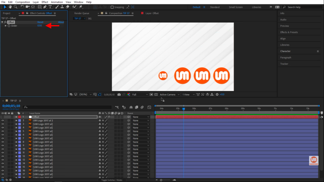 Slow down the animation in After Effects