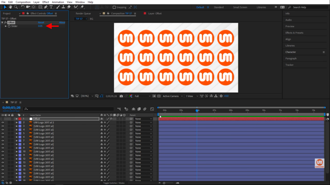 Smaller number speeds up animation in After Effects