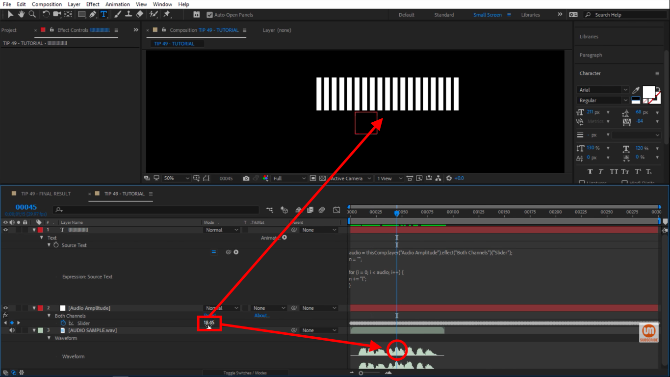 Taking the highest value in After Effects
