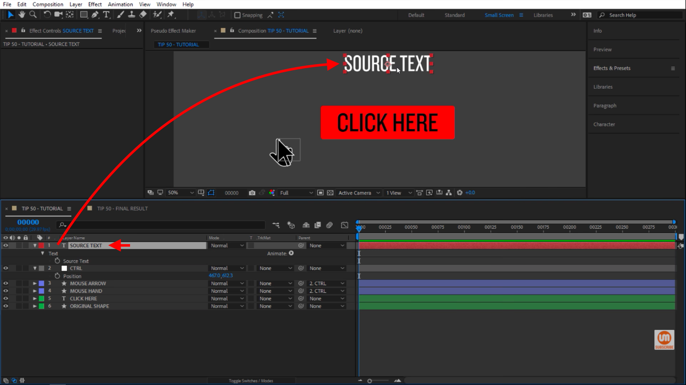 The Setup in After Effects