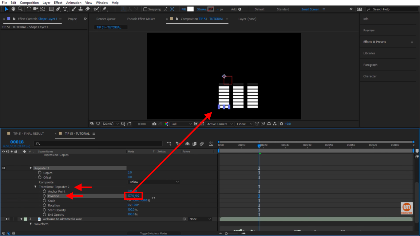 Transform Repeater Position in After Effects