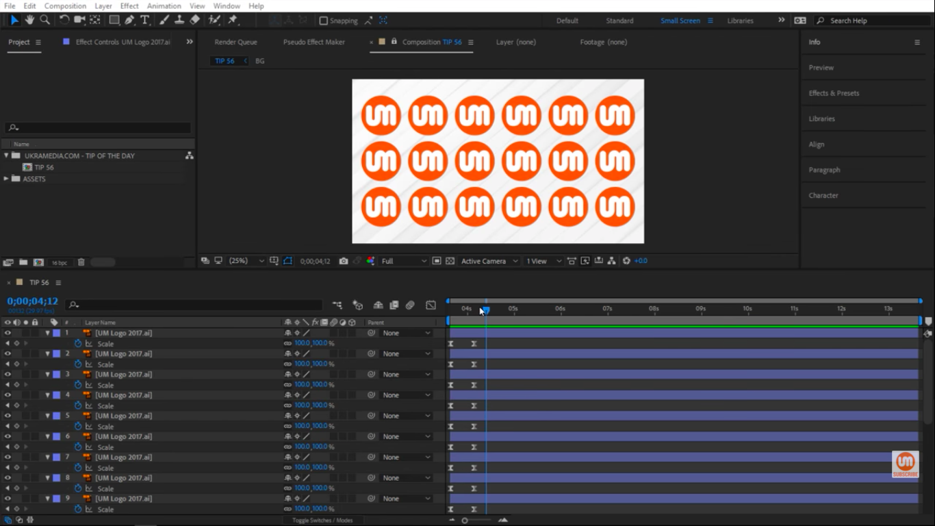 Ukramedia logos in After Effects