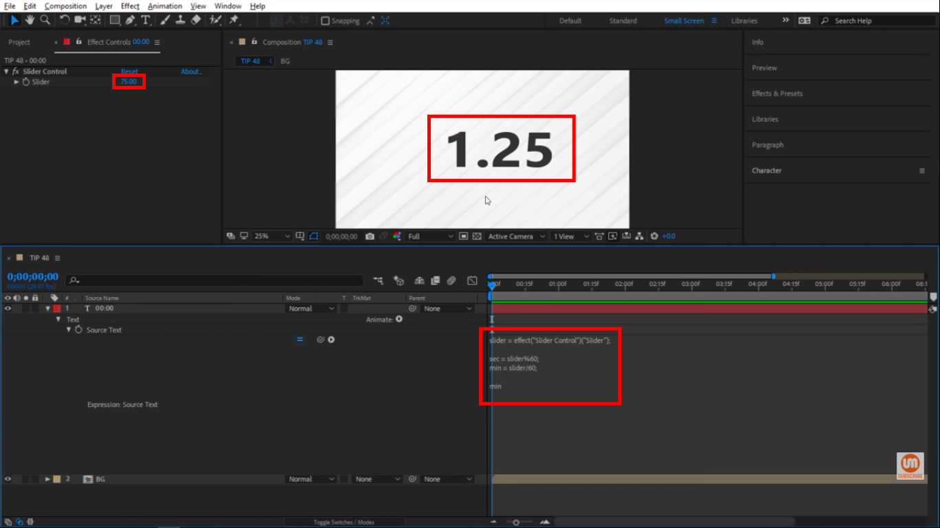Value in After Effects