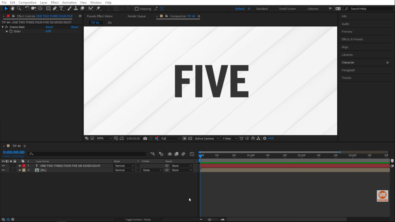 We are in After Effects