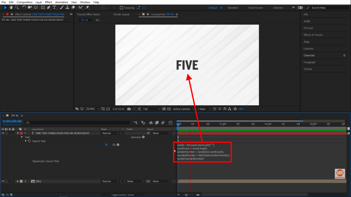 Words RoundedNumber in After Effects Expressions