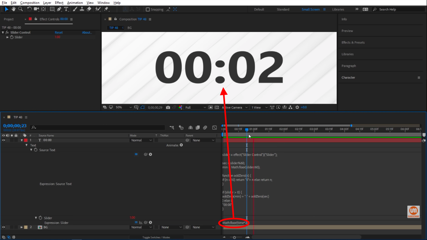 math floor in After Effects