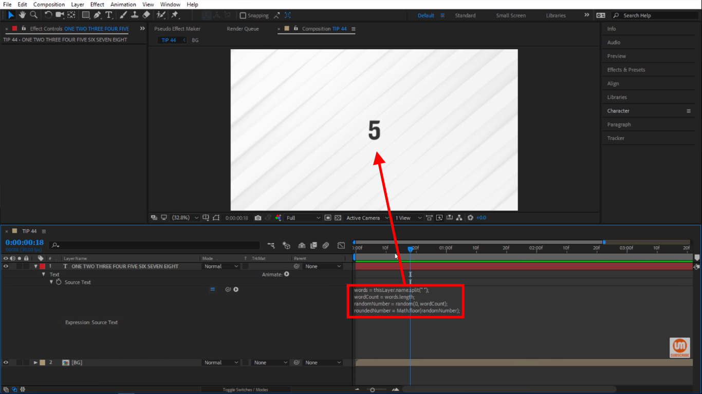 roundedNumber in After Effects Math Floor Expressions
