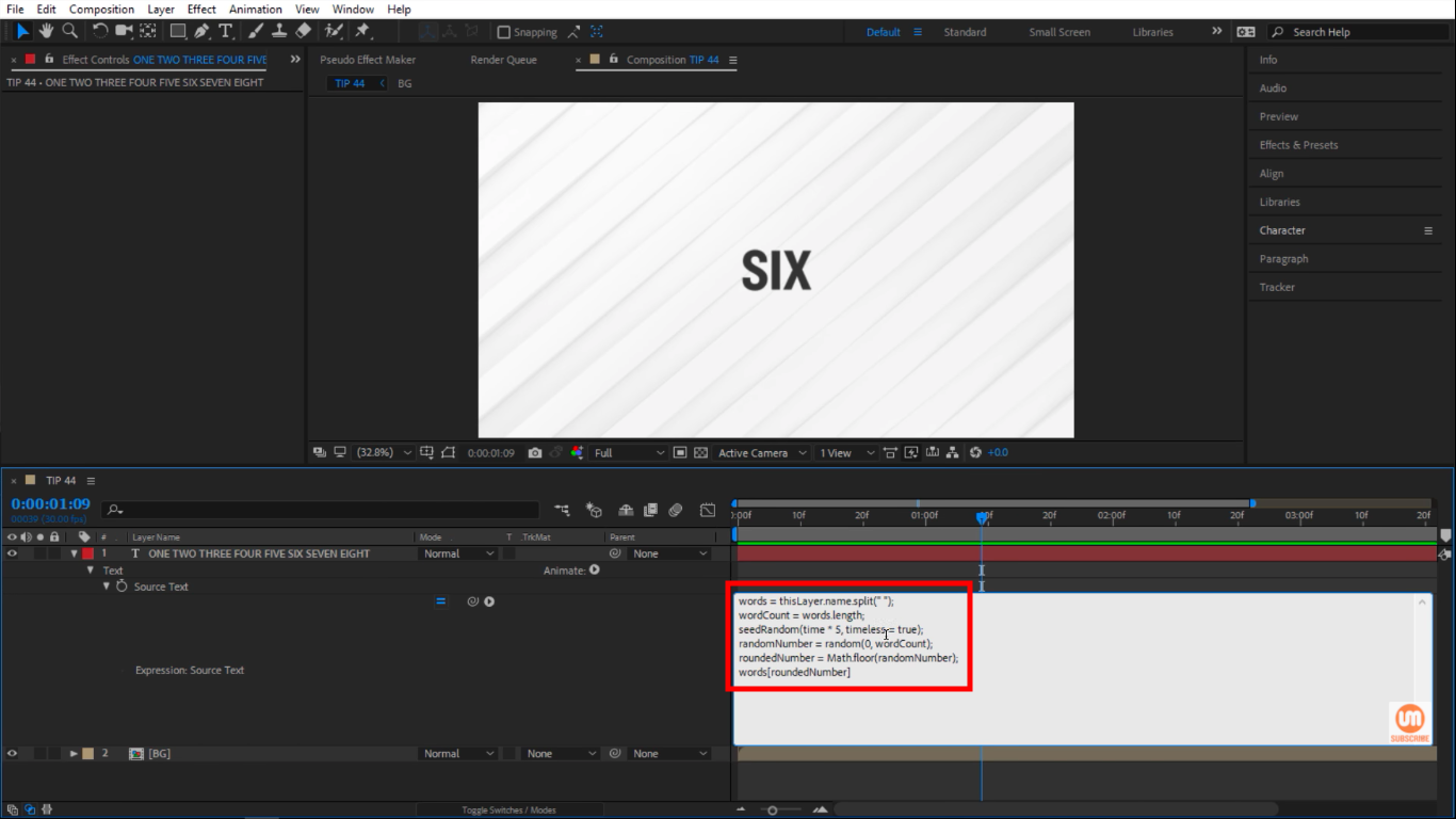 seedRandom Expressions in After Effects