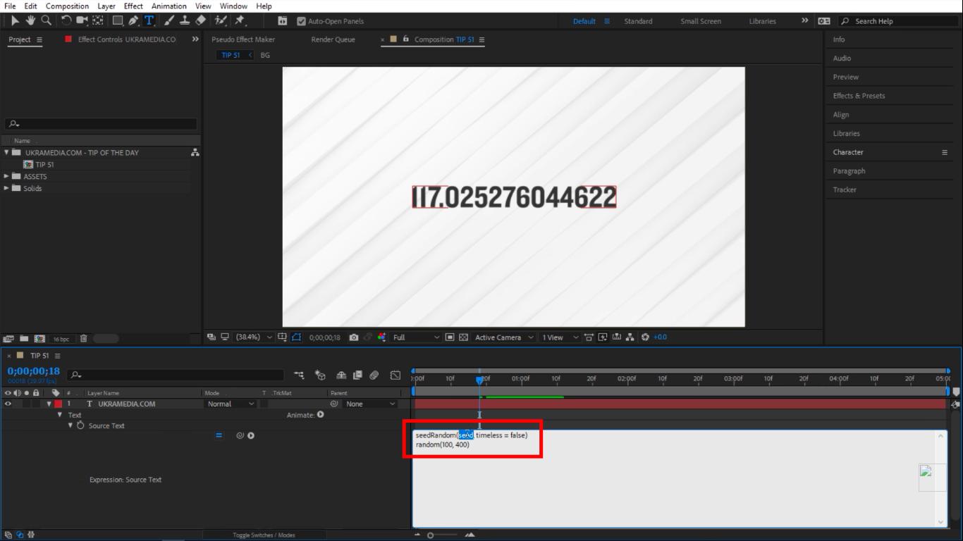 seedRandom in Adobe After Effects