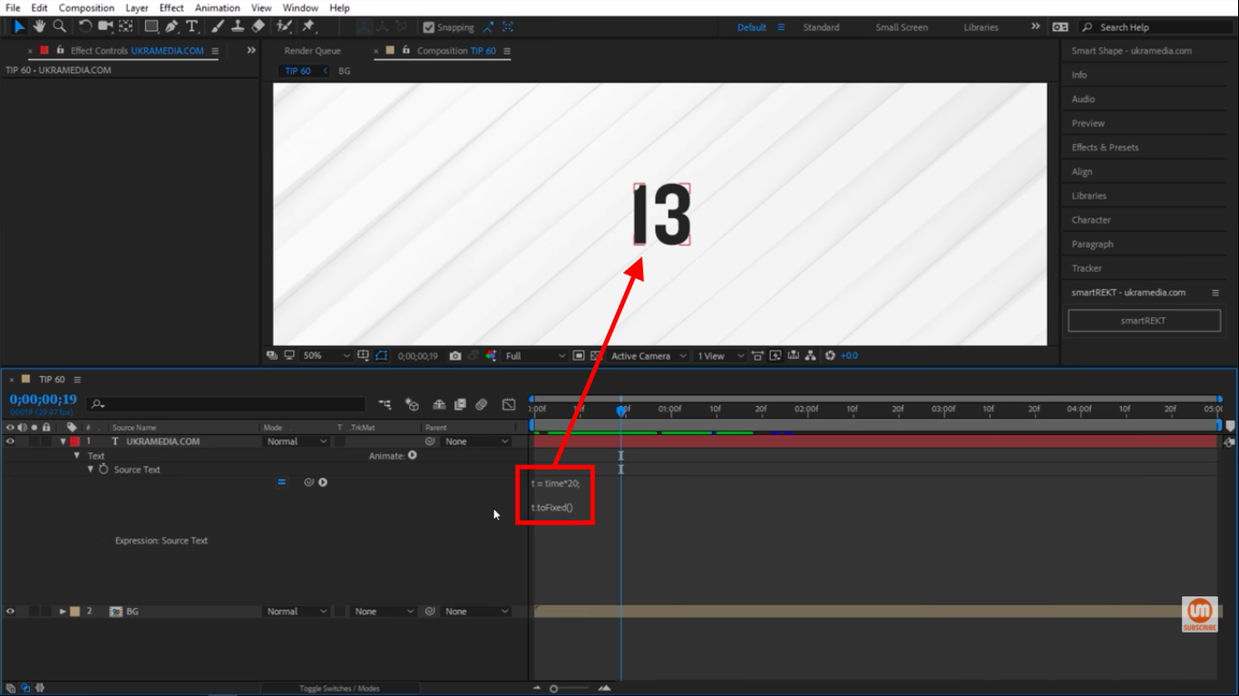 toFixed in After Effects