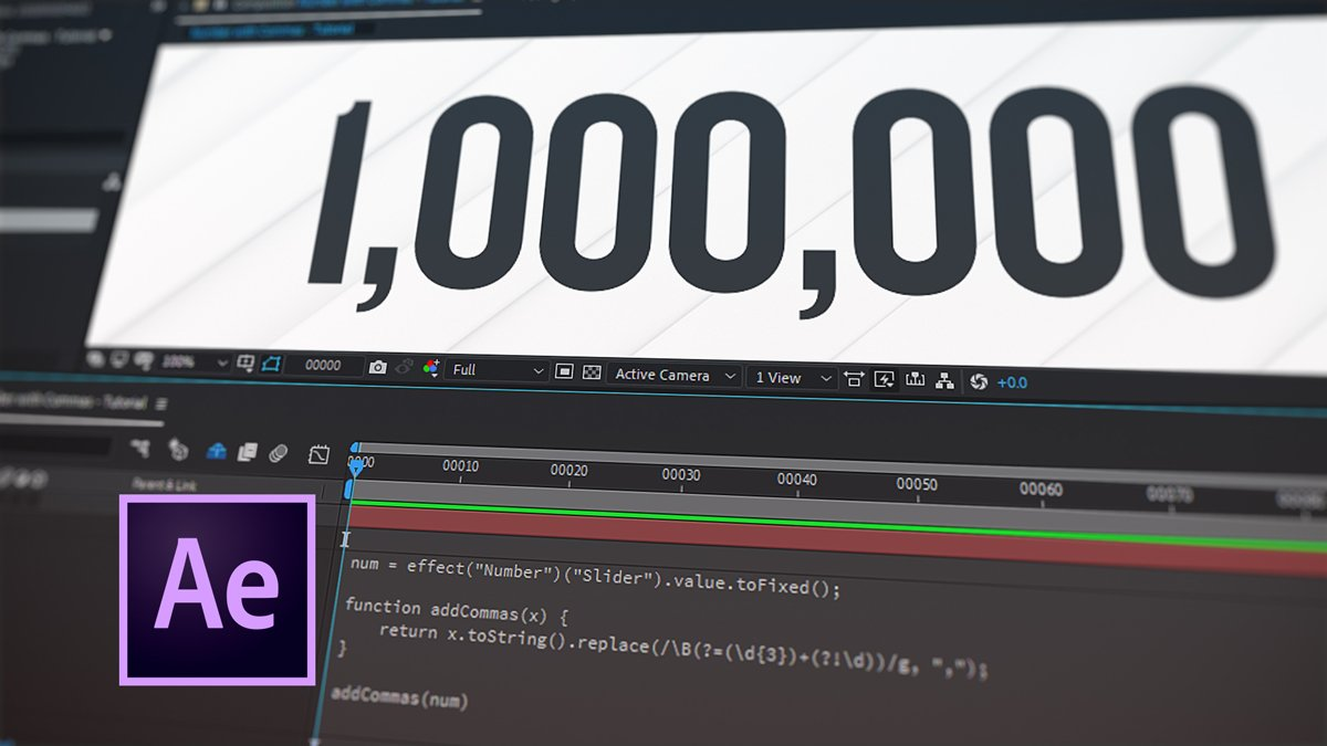 How to add commas to numbers in after effects using expressions