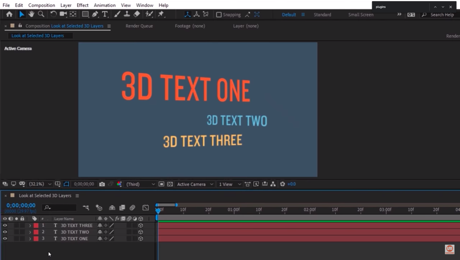 3D text layers After Effects