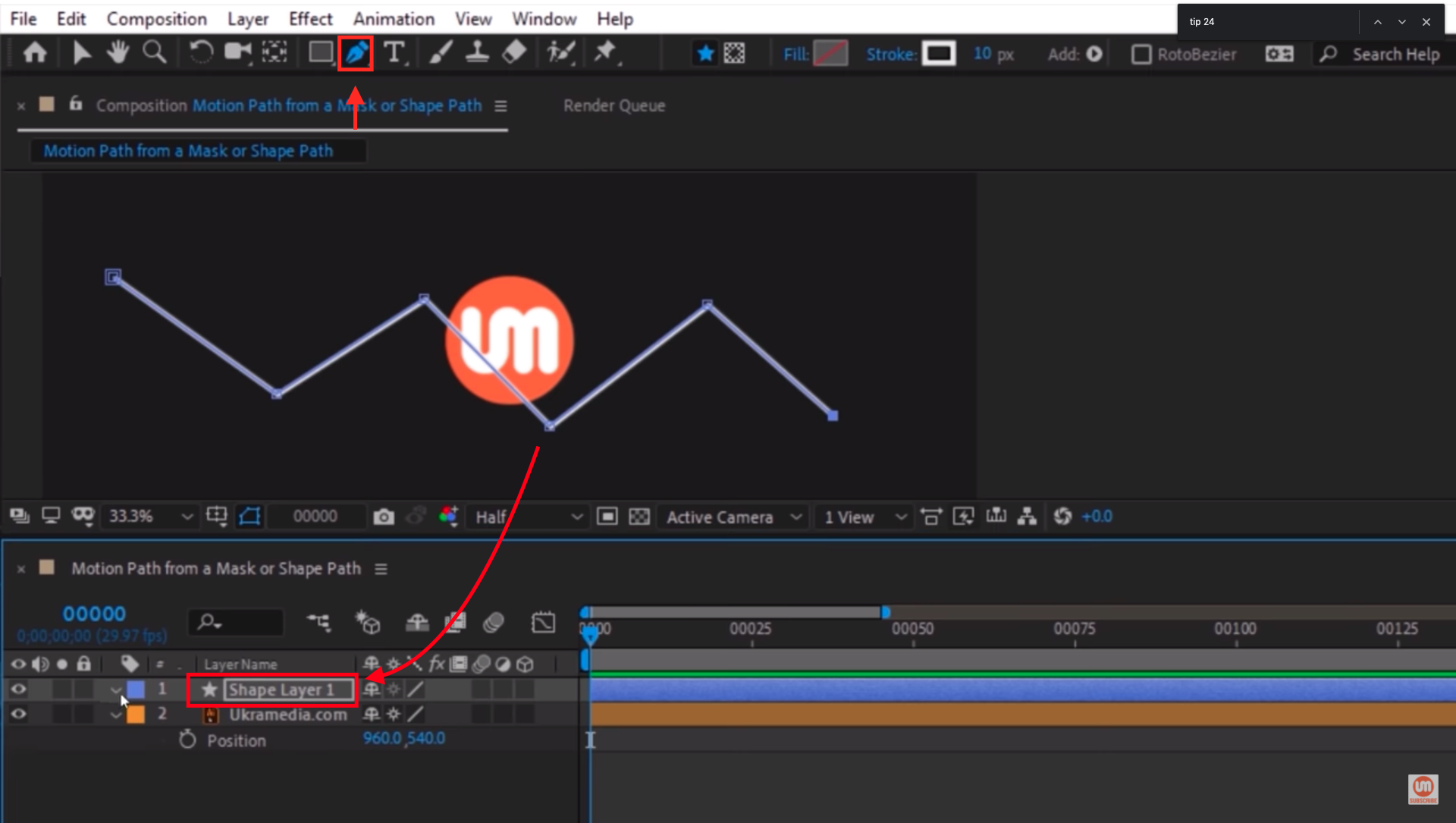 Basic shape layer in After Effects