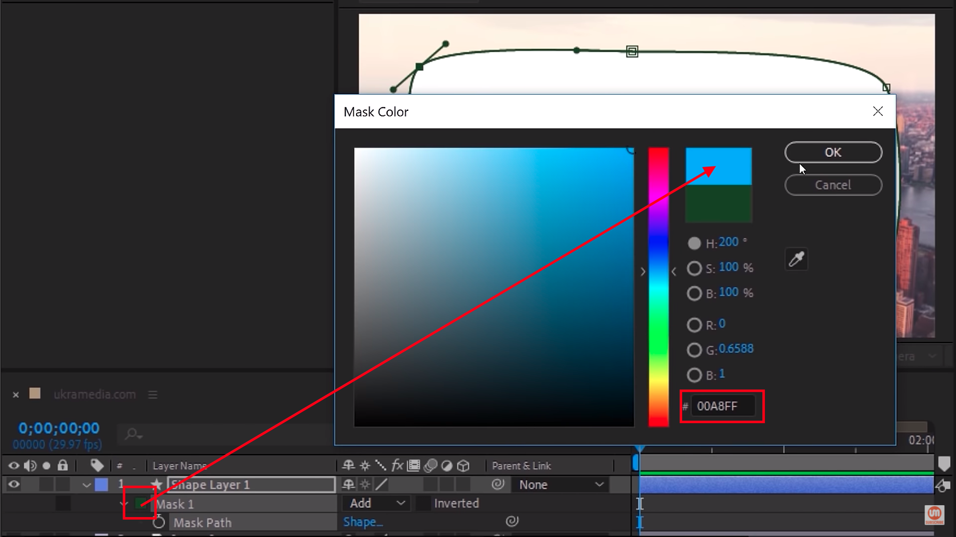Change the color of layer in After Effects