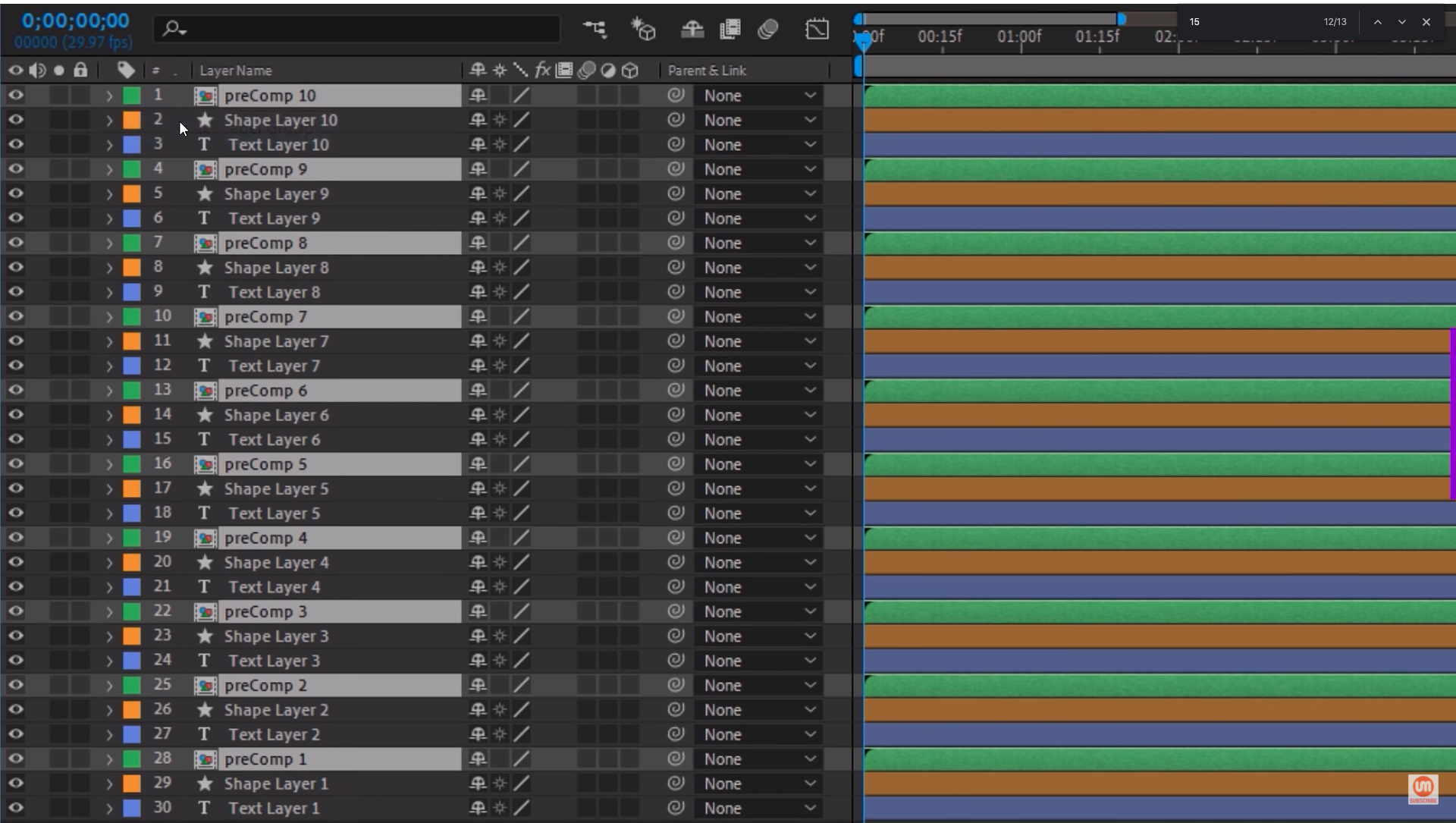 Select Label Group After Effects