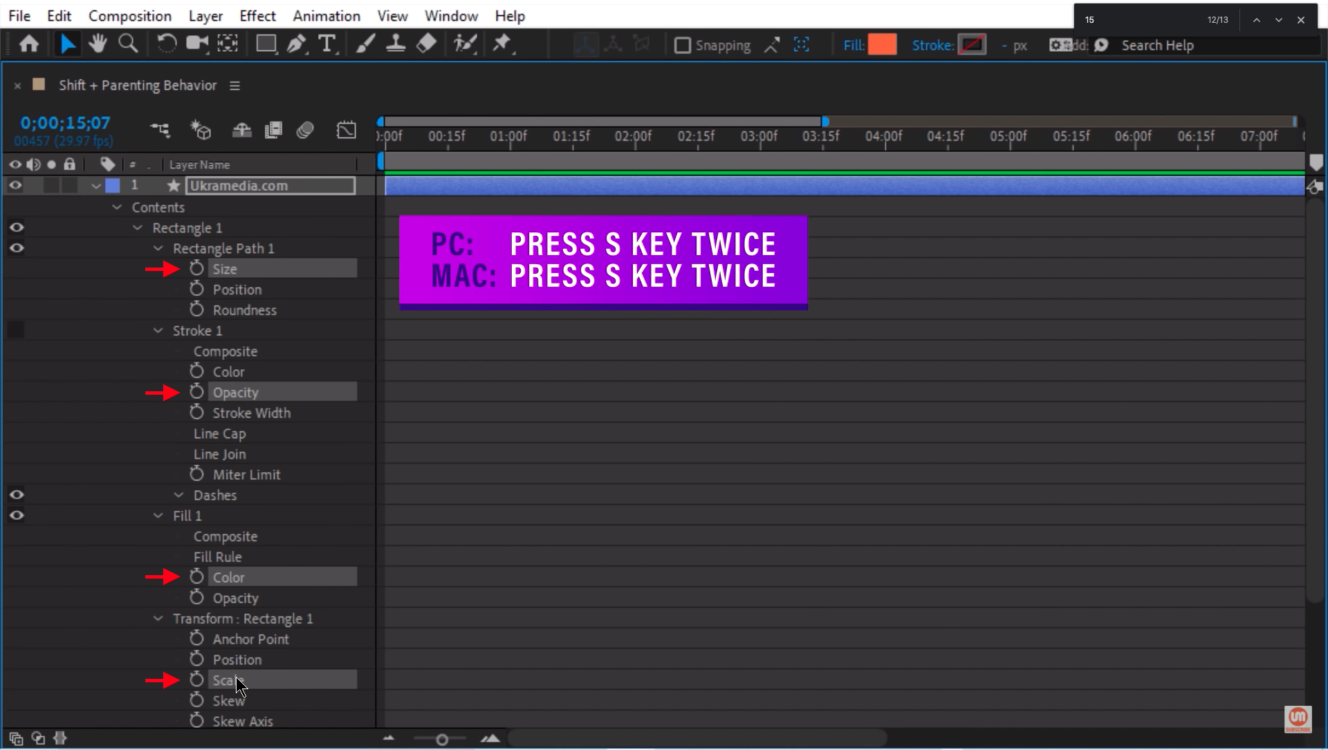Solo Selected Properties in After Effects