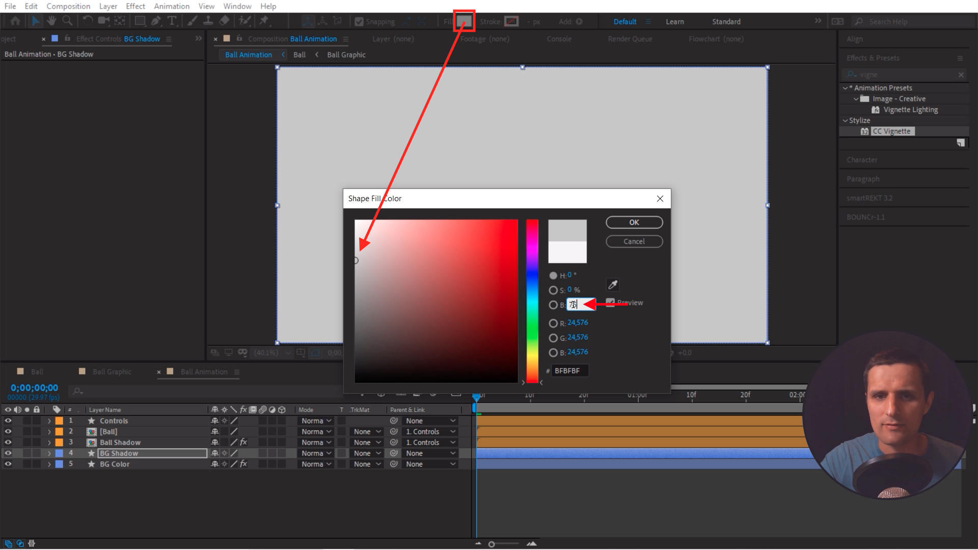 Change Color in After Effects Layers