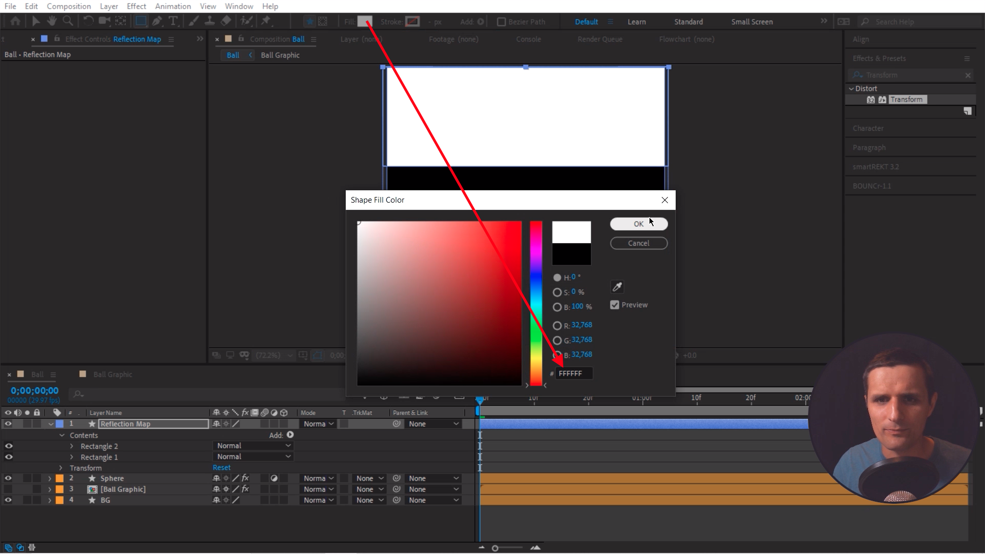 Change the color in After Effects Shape