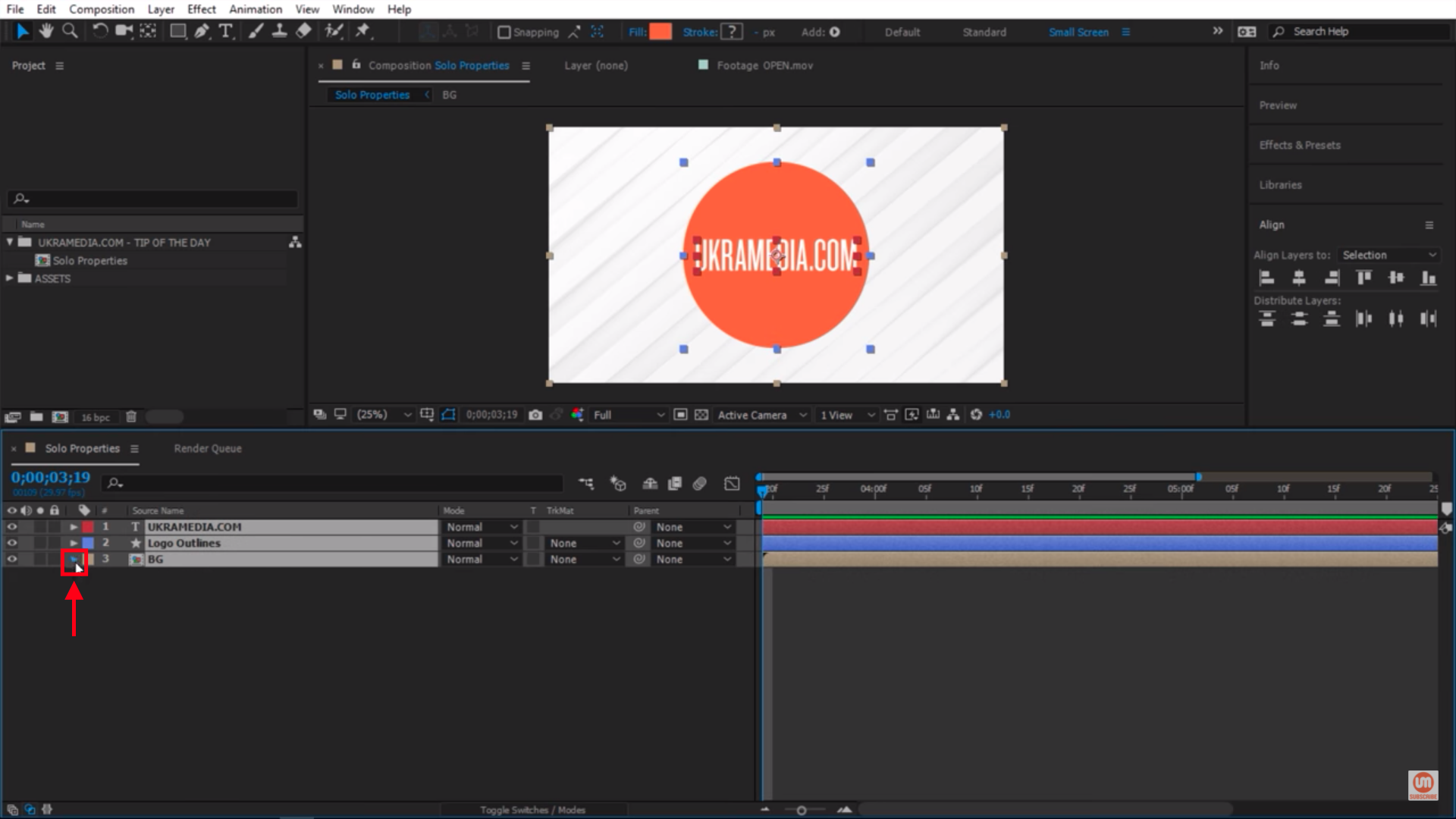 Collapse after effects layers