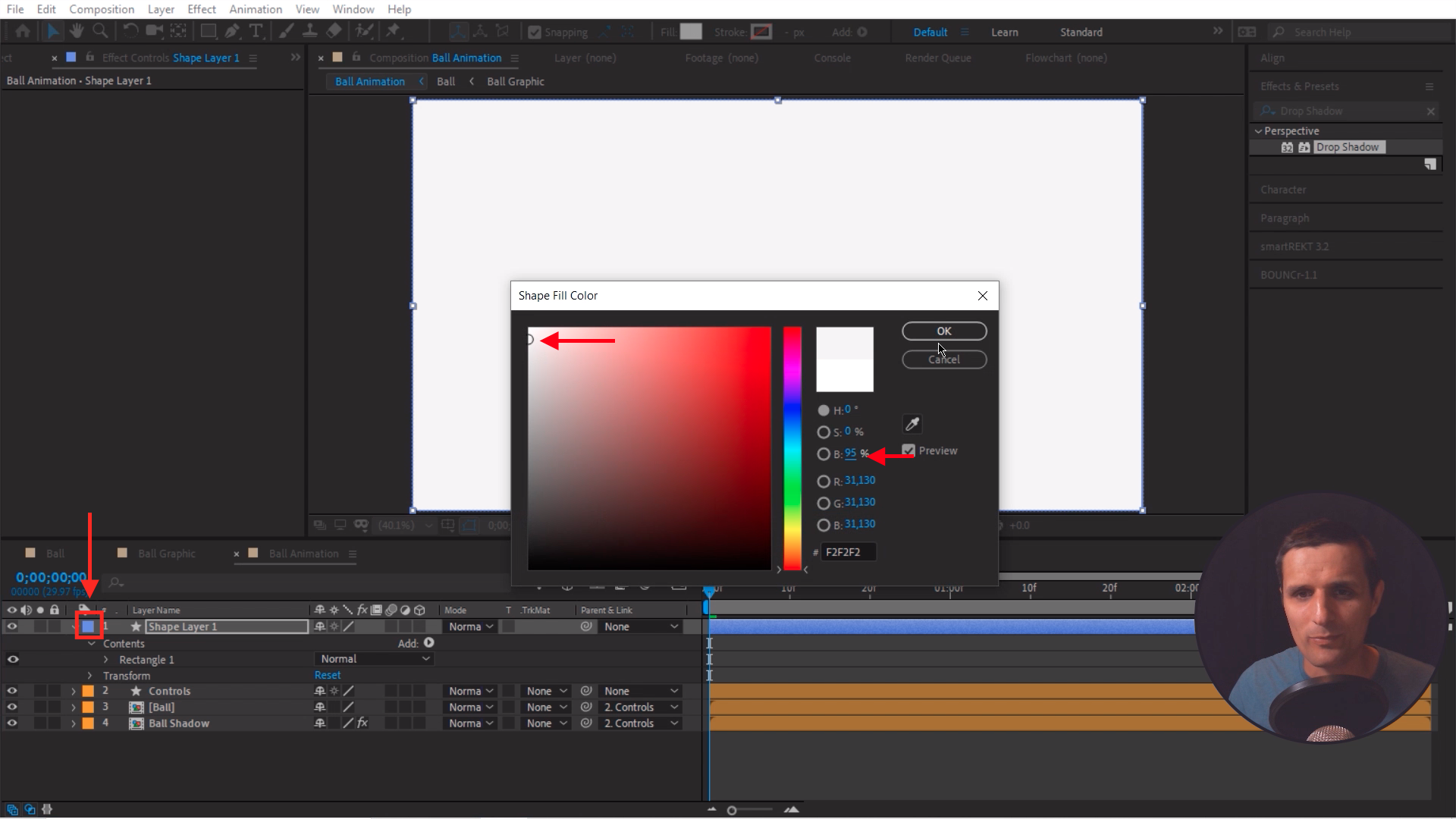 Color Change Shape Layer After Effects