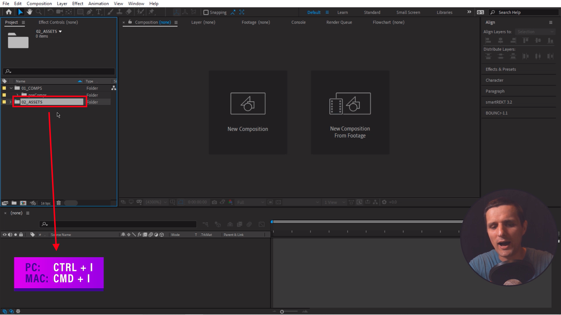 Import Assets in Adobe After Effects