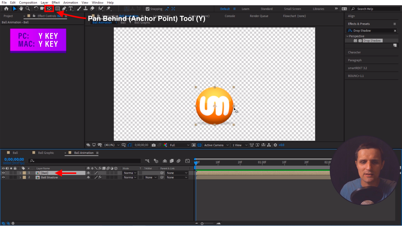 Pan Behind Anchor Point Tool After Effects