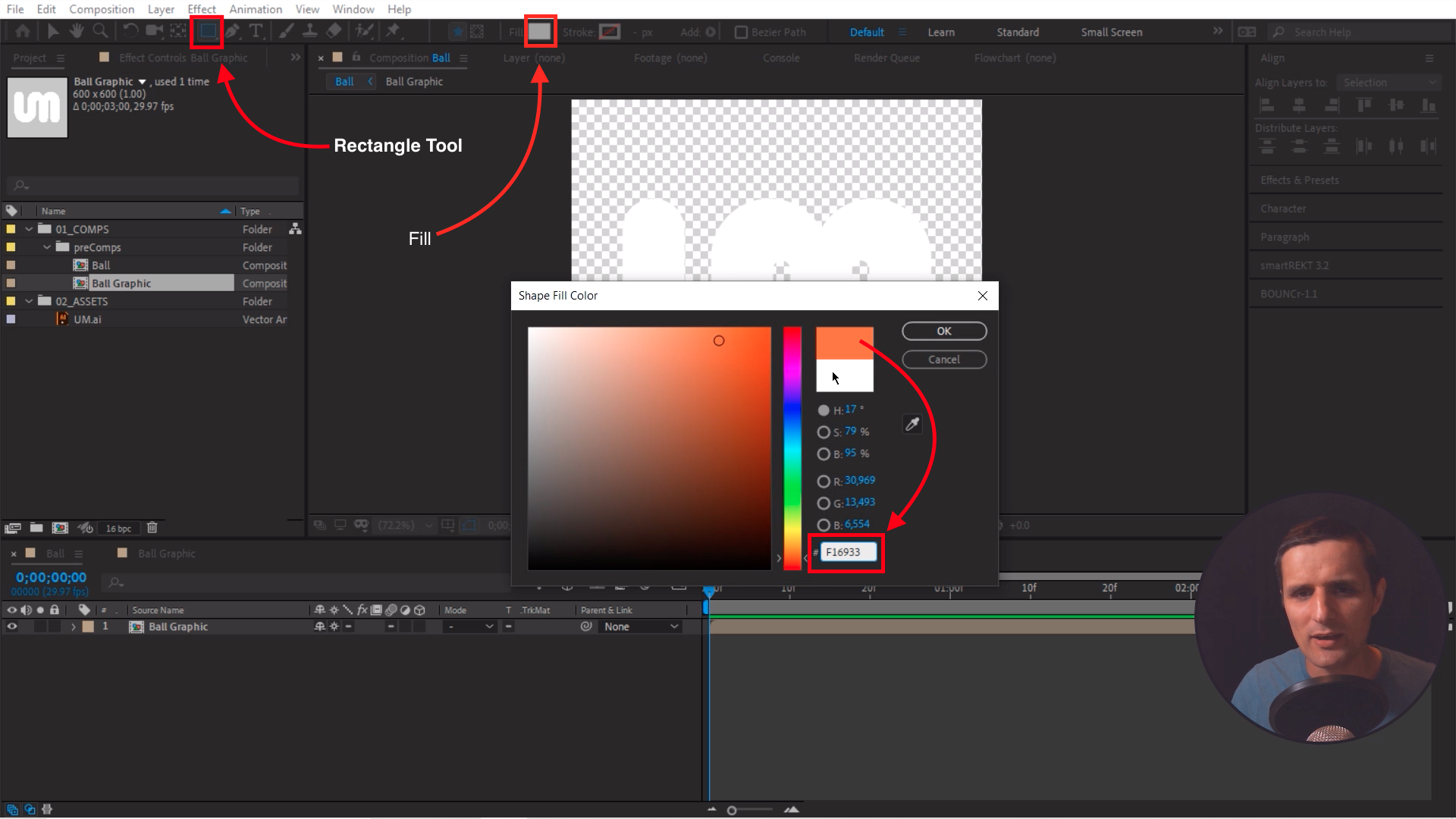 Rectangle Tool and Fill After Effects